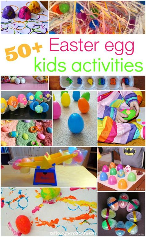 easter activities 50 ways to play learn craft with plastic eggs eggs coffee and crayons