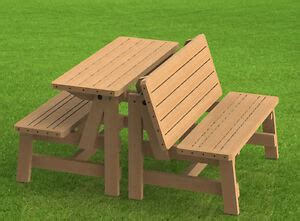 convertible benches  picnic table combination building