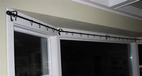 curtain rod for bay window bow window curtain rods ikea for your window