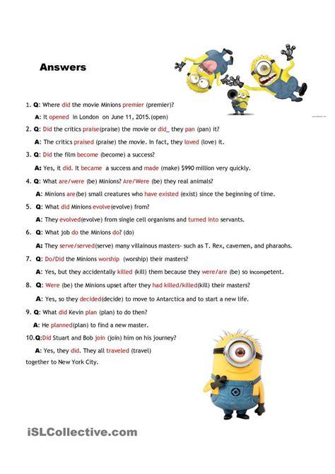interview  minions gramatica inglesa ingles