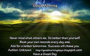 Self Improving Inspiring Quotes: Good Morning Thoughts for ...