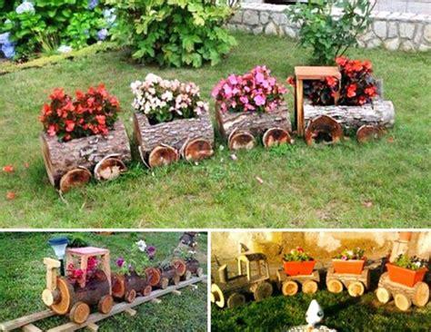 Garden Decoration Logs by Diy Yard And Garden Ideas Outdoor Crafts