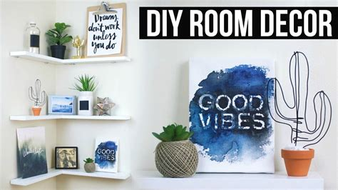 Diy Floating Shelves + Room Decor