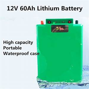 12v 60ah Li Ion Lithium Battery With Usb Handle Voltage