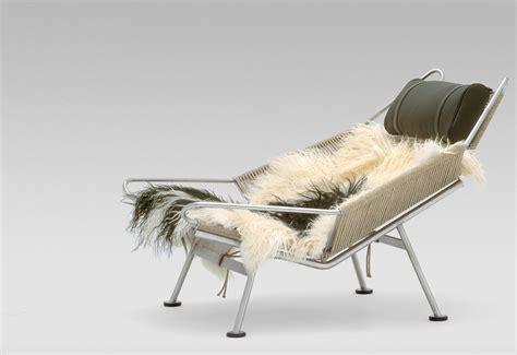 sheepskin chair pp225 flag halyard chair designed by hans wegner