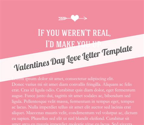 valentines day love letter template