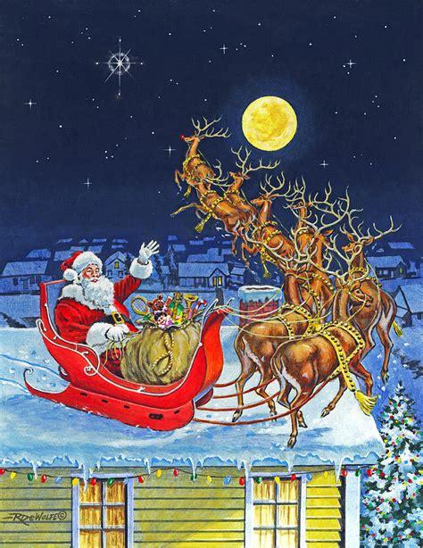 merry christmas   painting  richard de wolfe