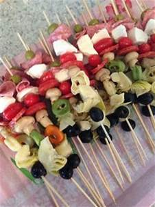 black & white stripe themed couples shower bbq appetizers