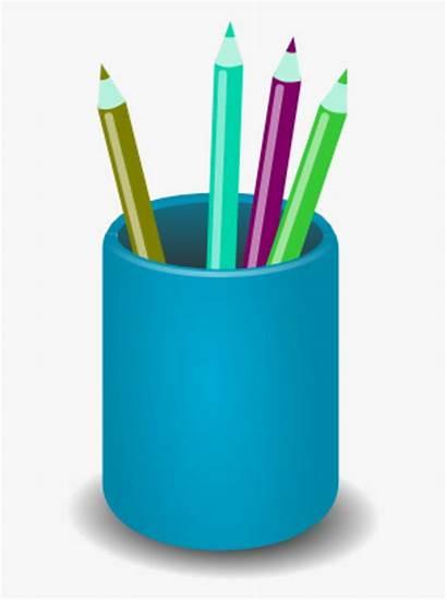 Cup Pencil Clip Clipart Pens Transparent Kindpng