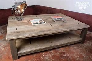 Table Basse Carrée En Bois : grande table basse carr e bois design en image ~ Teatrodelosmanantiales.com Idées de Décoration