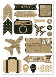 Kraft Sticker Scrapbooking Vintag Style Vacation Travel