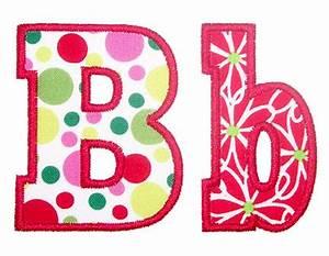 sweet pea stitches applique fonts With block letter applique