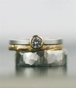 moissanite and gold wedding band set matching engagement With hers and hers wedding rings