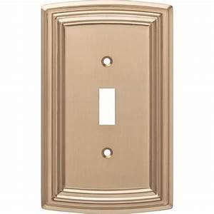 Liberty, Emery, Decorative, Single, Light, Switch, Cover, Champagne, Bronze-w36396-cz-c