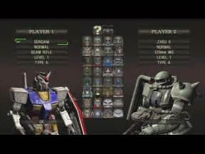 all mobile suits mobile suit gundam crossfire all mobile suits ps3