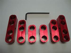 Spark Plug Wire Separators Aluminum Red 7mm 8mm 9 5mm Looms 302 350 454  9570rd