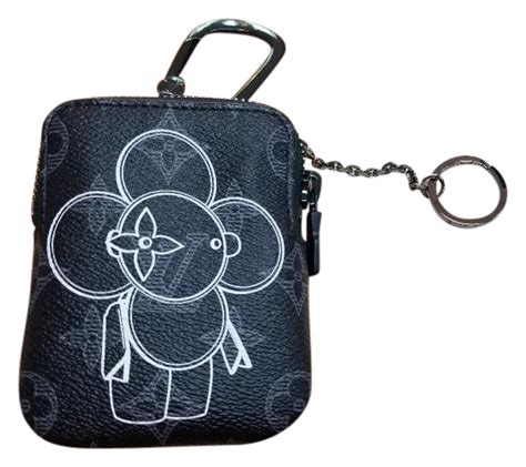 louis vuitton black vivienne zip bag charm  key holder tradesy