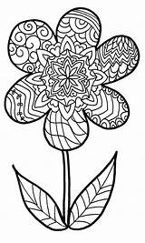 Coloring Easy Pages Zentangle Printable Print Getcolorings sketch template