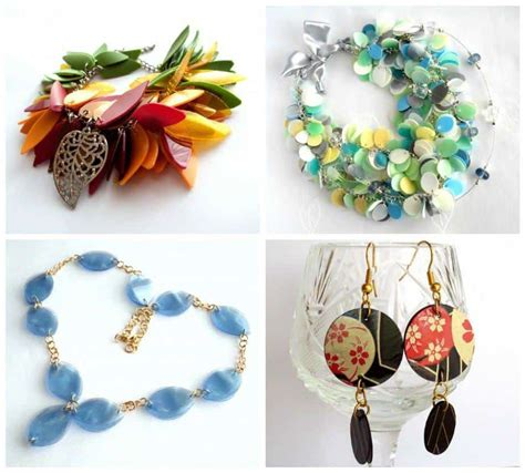 recycled jewelry   plastic bottles recyclart