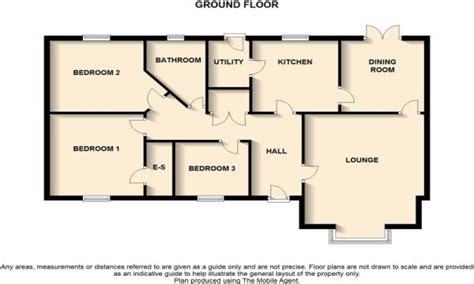 3 Bedroom Bungalow Floor Plan Three Bedroom Bungalow Floor