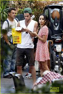Full Sized Photo of zoe kravitz penn badgley back together ...
