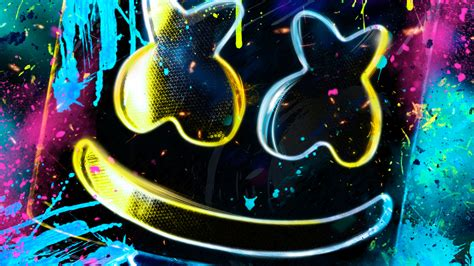 neon marshmello hd   wallpapers images
