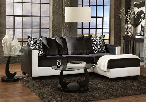 Sofa Black And White by 3001 Sectional Sofa In Black White