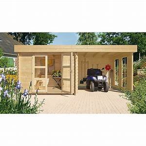 Gartenhaus Mit Lounge : blockbohlenhaus esbjerg 485 2 33 x 4 3 m wandst rke 28 mm natur 7435 blockbohlenhaeuser ~ Indierocktalk.com Haus und Dekorationen