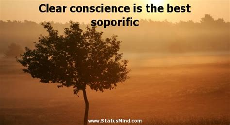 clear conscience    soporific statusmindcom