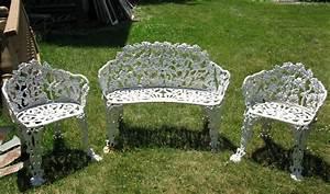Cast iron patio set patio design ideas for White iron garden furniture