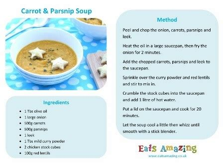 recipes for preschoolers to make easy carrot and parsnip soup recipe 925