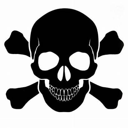 Skull Bones Pirate Stencil Decal Tattoo