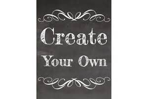 Free Make Your Own Chalkboard Sign