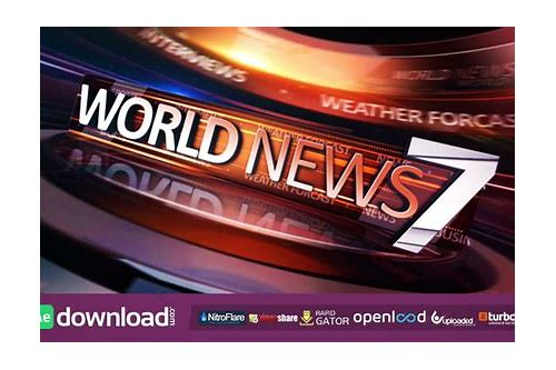 broadcast news package videohive free download