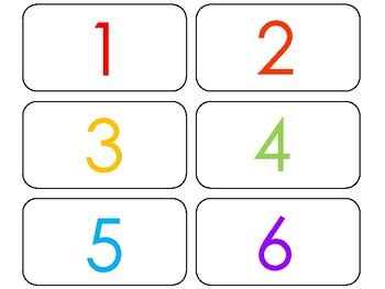printable rainbow numbers flashcards numbers