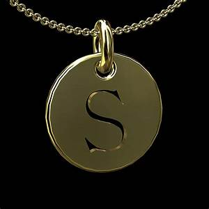 gold cut out initial letter s disc pendant 145mm With gold initial letters