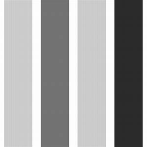 Fine Decor Magnum Stripe Wallpaper Black / Silver / White ...