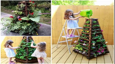 Vertical Gardens How To Build by How To Build A Vertical Garden Pyramid Tower Diy Outdoor