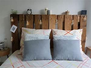 Comment Faire Une Tete De Lit : faire une t te de lit avec des palettes con fession ~ Preciouscoupons.com Idées de Décoration