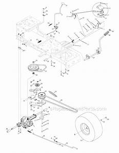Troy Bilt Riding Mower Steering Part Diagram
