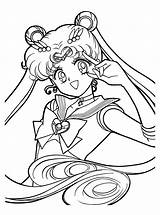 Sailor Moon Pages Coloring Printable Sailormoon sketch template