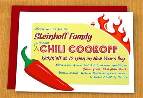 chili cookoff invitation chili cook  cook  chili