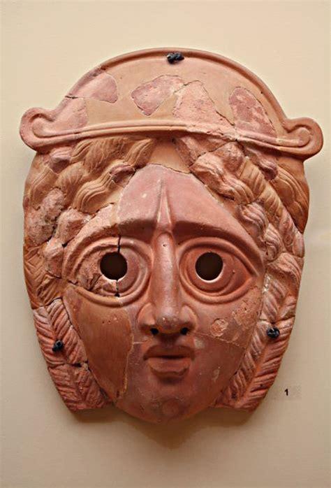 ancient greek theater mask masks   world