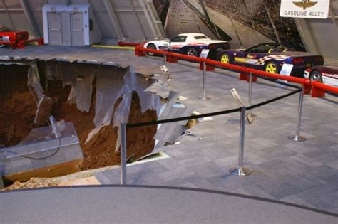Corvette Museum Sinkhole Size by National Corvette Museum Makes Sinkhole Permanent Exhibit