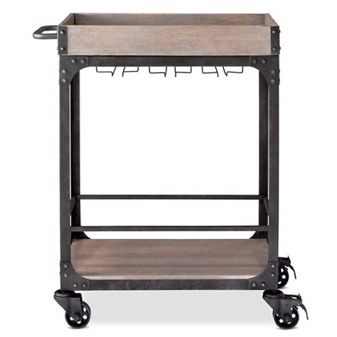 bar cart with wine rack franklin bar cart and wine rack weathered gray threshold