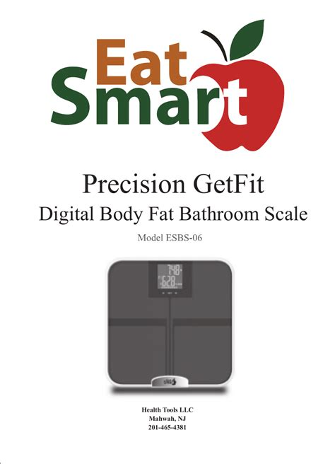 Eatsmart Digital Bathroom Scale Manual by Eatsmart Esbs 06 User Manual 14 Pages