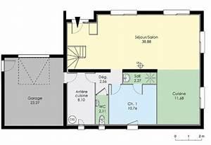 Plan Maison 1 Chambre 1 Salon : maison moderne de quatre chambres d tail du plan de ~ Premium-room.com Idées de Décoration