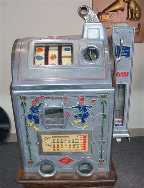 "Jennings ""dutch Boy"" Slot Machine With Side Mint Vendor"
