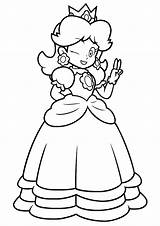 Peach Princess Coloring Pages Daisy Happy Printable Mario Super Print Categories Getdrawings Getcolorings Books Coloringonly sketch template