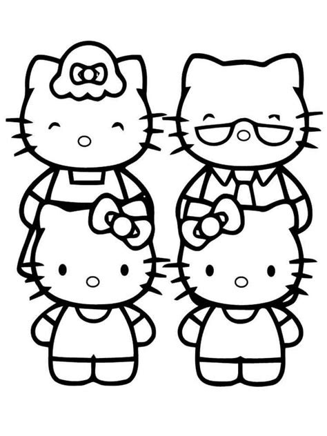 Hello Kitty coloring pages Download and print Hello Kitty